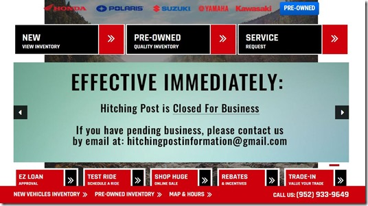 Hitching Post Closed