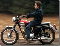 dylan on a motorcycle